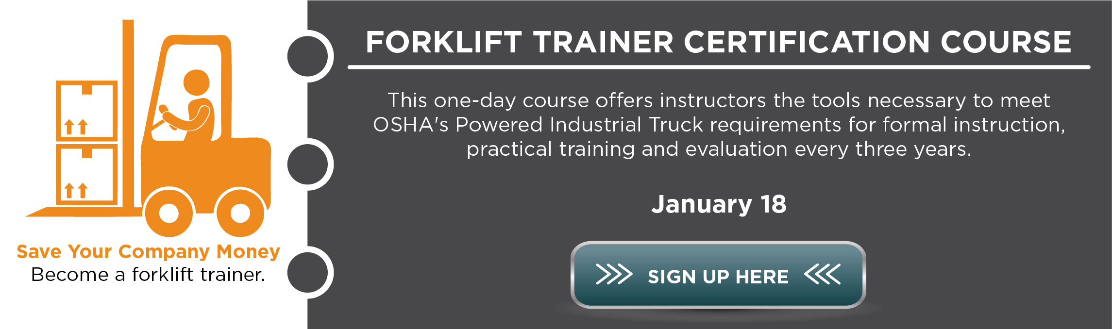 Forklift Trainer Certification Course