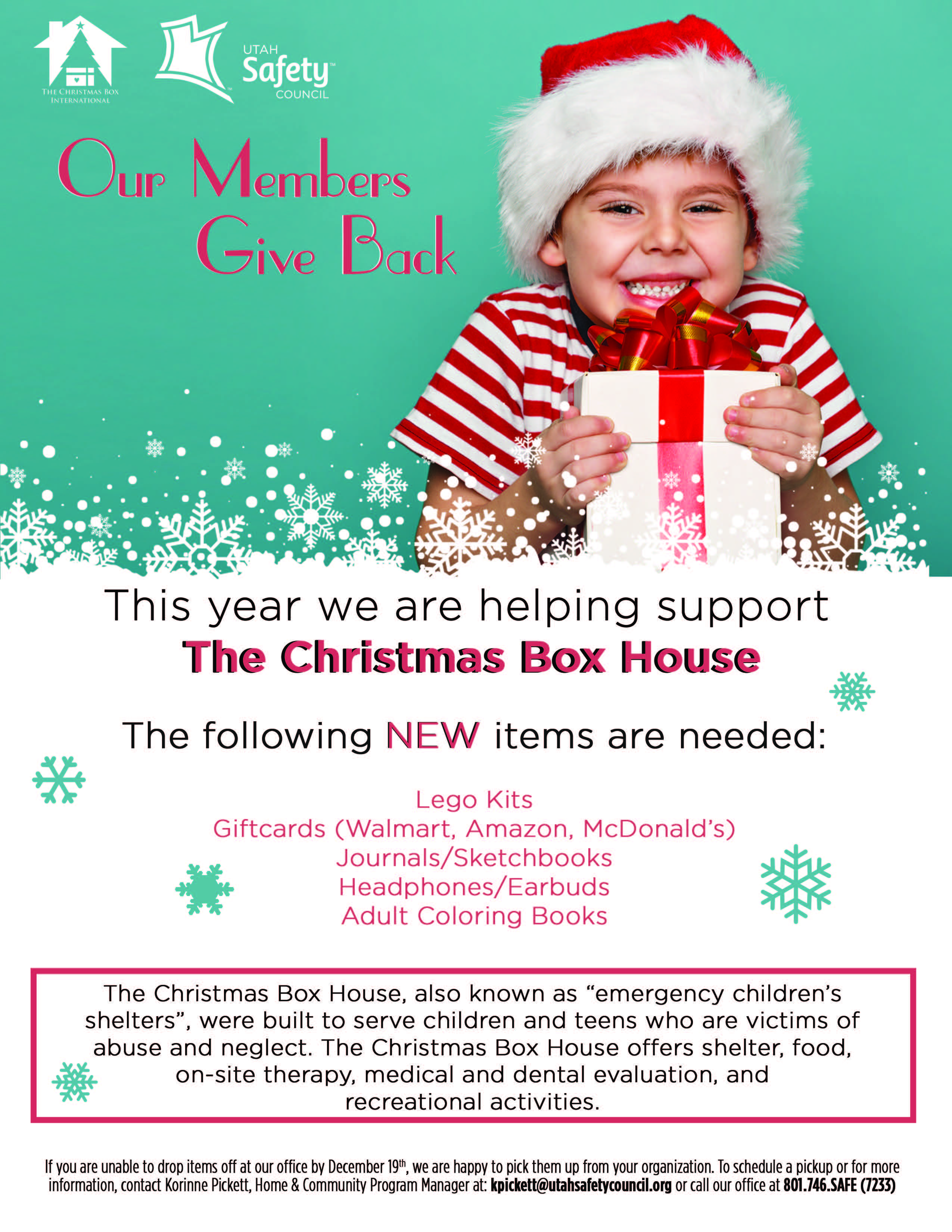 Christmas Activities In Utah.Donate To The Christmas Box House Utah Safety Council
